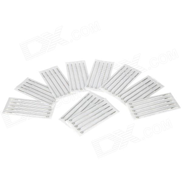 9RM Iron Alloy Round Curved Tattoo Needles Set - Silver (50 PCS)