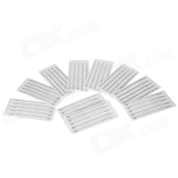 7RM Iron Alloy Round Curved Tattoo Needles Set - Silver (50 PCS) free shipping 100