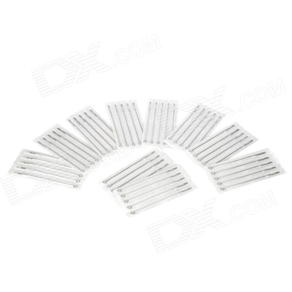 11RM Iron Alloy Round Curved Tattoo Needles Set - Silver (50 PCS)