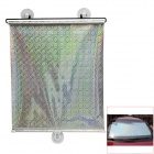 HQS-Y13276 Car Retractable Windshield Sun Heat Shield w/ Suction Cups - Silver (40 x 60cm)