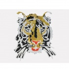 Cool Tiger Head Style Car Decorative Sticker with Crystal