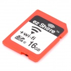 ez Share Wireless Transmission Wi-Fi SDHC Memory Card - Red (16GB / Class 10)