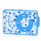 """C""-Type Button MP3 Player w/ TF - Blue + White"