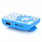 """C"" de tipo Button MP3 Player w / TF - Azul + Blanco"