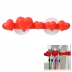 Fiver Heart Style Suction Cup Toothbrush Holder - Red