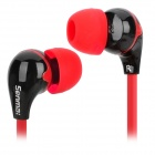 Senmai SM-E1016 Stylish Flat In-Ear Earphones - Red + Black (3.5mm Plug / 120cm)
