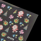Christmas Themed Stylish Nail Art Paper Stickers - Multicolored (4 PCS)