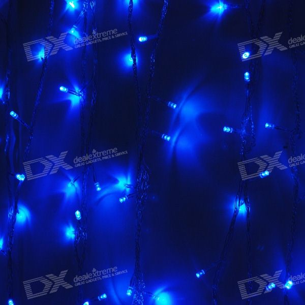 Blue 180-LED Christmas/Decoration String Lights (18-Meter/220V AC)