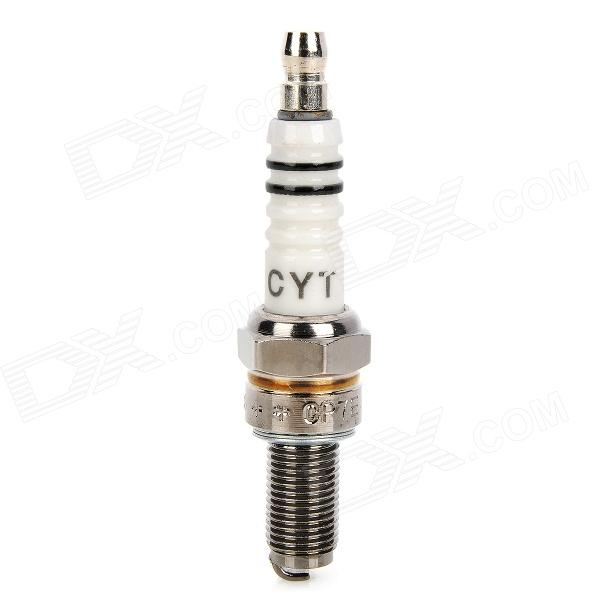 CYT CP7E Alloy Steel Spark Plug for Honda / Suzuki / Yamaha - White + Beige buy two get one free motorcycle styling wheel hub tire reflective sticker car decorative stripe decal for yamaha honda suzuki