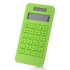 Fashion 1.7&quot; LCD Eco-friendly Corn Plastic Solar Power Calculator - Green