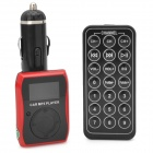 "FM204 1,1 ""LCD Auto MP3-Player FM-Transmitter mit Fernbedienung - Red + Black (12 ~ 24V)"