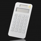 "Fashion 1.7"" LCD Eco-friendly Corn Plastic Solar Power Calculator - White"
