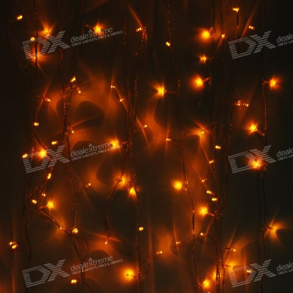 Yellow 180-LED Christmas/Decoration String Lights (18-Meter/220V AC)