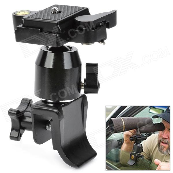Ventana Car Mount Holder Trípode Rotula w / Gradienter / Quick Release Plate para DSRL / DV