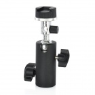 F Type 180 Degree Swivel Hot Shoe Umbrella Camera Mount Flash Holder - Black