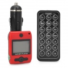 "FM203 1.3"" LCD Car MP3 Player FM Transmitter with Remote Controller - Red + Black (12~24V)"