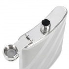 Honest Outdoor Portable Stainless Steel Liquor Flask with Funnel - Silver (8oz)