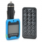 "FM205 1.3"" LCD Car MP3 Player FM Transmitter with Remote Controller - Blue + Black (12~24V)"
