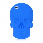 Cool Skull Head Style Protective Soft Silicone Back Case for Iphone 4 / 4S - Blue