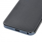 Ultra-Thin Protective Aluminum Alloy Hole Net Hard Back Cover Case for Iphone 5 - Black