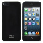 Stylish Ultra-Thin Piano Finish Protective Plastic Hard Back Case for iPhone 5 - Black