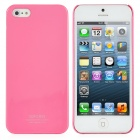Stylish Ultra-Thin Piano Finish Protective Plastic Hard Back Case for iPhone 5 - Pink