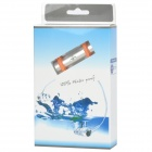Elegante Waterproof MP3 Player w / FM - Prata + laranja (4GB)