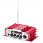 "HY-600 1.8"" LCD 30W Hi-Fi Amplifier MP3 Player w/ SD / USB for Car / Motorcycle - Red + Silver"