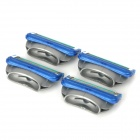 FUSION Replacement 5-Blade Manual Shaver Heads Set - Blue + Grey (4 PCS)