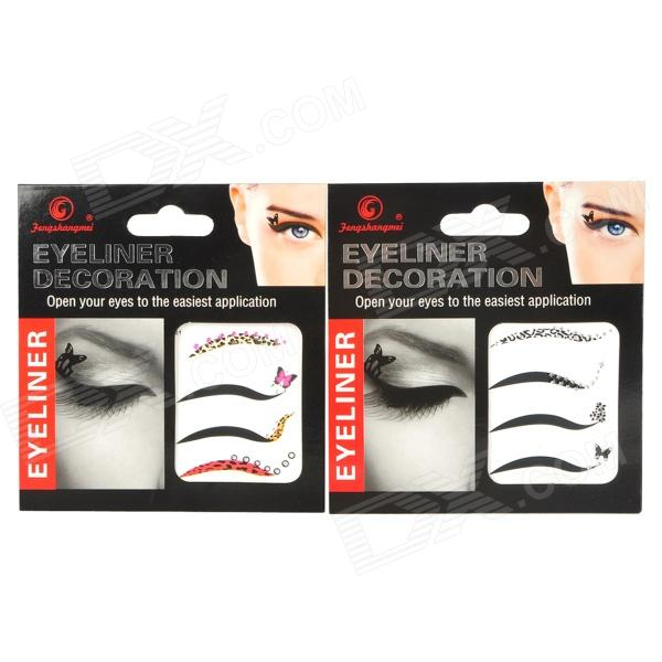 8-in-1 Cosmetic Makeup Eyeliner Sticker Strips - Multicolored