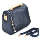 London Style Fashion Women PU Leather Water Resistant One Shoulder Bag Handbag - Cobalt Blue
