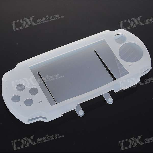 Silicone Protective Case for PSP 3000 (White)