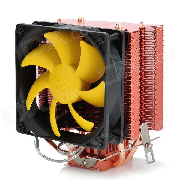 все цены на PCCOOLER S90 Heatpipe CPU Cooler Heatsink w/ Cooling Fan - Black + Red + Silver онлайн