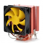 PCCOOLER S90 Heatpipe CPU Cooler Heatsink w/ Cooling Fan - Black + Red + Silver