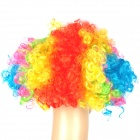 Stylish Explosion Hair Short Curly Wig for Costumer Party / Halloween - Multicolored