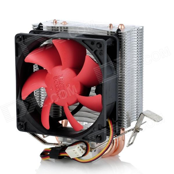 все цены на PCCOOLER Mini HP-825 Heatpipe CPU Cooler Heatsink w/ Cooling Fan - Black + Red + Silver онлайн