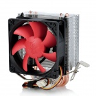 PCCOOLER Mini HP-825 Heatpipe CPU Cooler Heatsink w/ Cooling Fan - Black + Red + Silver
