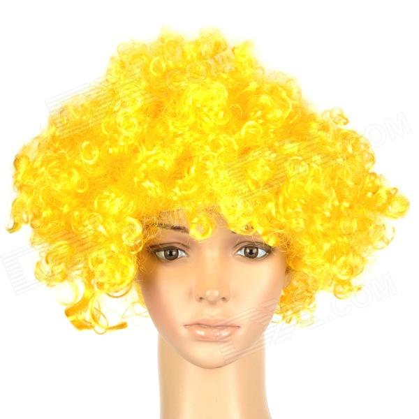 Stylish Explosion Hair Short Curly Wig for Costume Party / Halloween - Golden