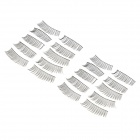 ZX1202-014 Water Resistant Natural Lengthen Darken Fake Eyelashes Set - Black (10 Pairs)