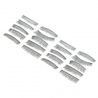 ZX1202-050 Water Resistant Natural Lengthen Darken Artificial Eyelashes Set - Black (10 Pairs)