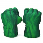 Cosplay HULK Smash Soft Plush Gloves Right &amp; Left - Green (Pair / Free Size)