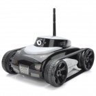 Iphone / Ipad IOS App Controlled 2-CH Wireless Spy Tank w/ 300KP Camera - White + Black (6 x AA)