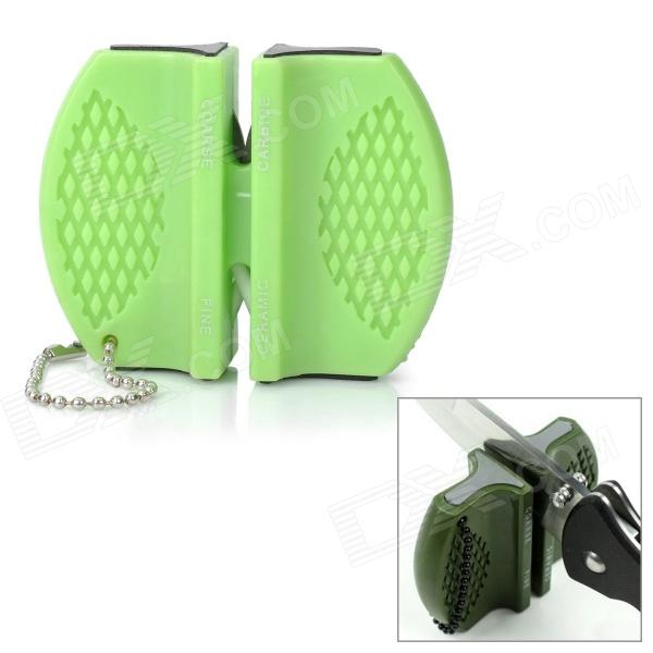 Portable Mini Kitchen Knife Sharpener - Green lansky mini dog bone knife sharpener