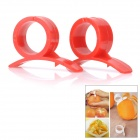 Smart Finger Ring Style Orange Peeler Tool - Red (2 PCS)