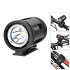 UltraFire 690lm 3-Mode White Light Swivel Bike Light - Black