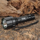 BANYOU C8 Cree XR-E Q5 235lm 5-Mode Memory White Light Flashlight - Black (1 x 18650)