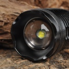 UltraFire LY-E6 Cree XM-L T6 1000lm 5-Mode Memory White Zooming Flashlight - Black (1 x 18650)