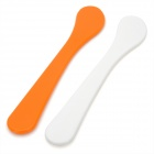 DIY Beauty Facial Mask Plastic Sick Tool - White + Orange (2 PCS)