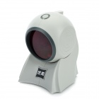 USB 24 Wire Omnidirectional Laser Barcode Scanner - Grey
