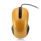 MC Saite MC-002 800 / 1000dpi USB Wired Optical Mouse - Black + Yellow (137cm-Cable)